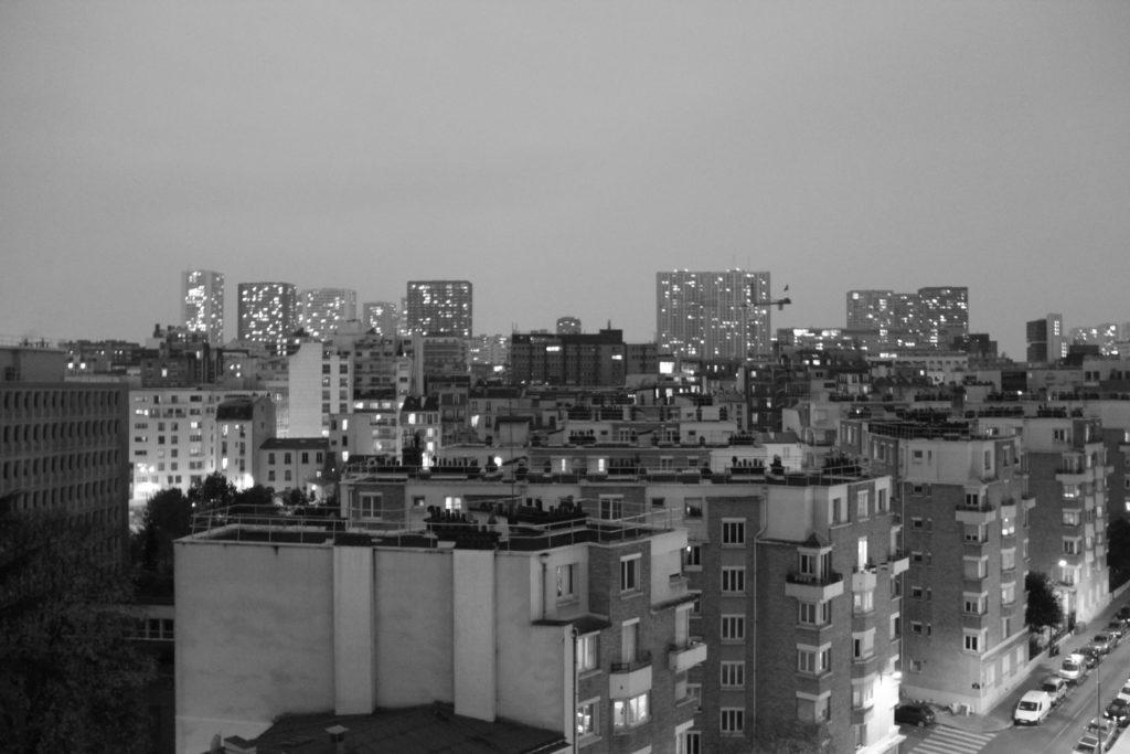 La vue du toit terrasse
