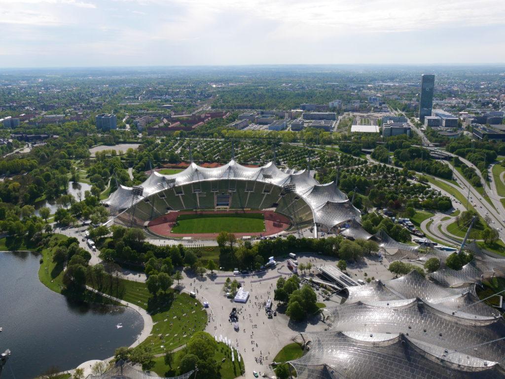 Stade olympique vue de l'Olympiaturm
