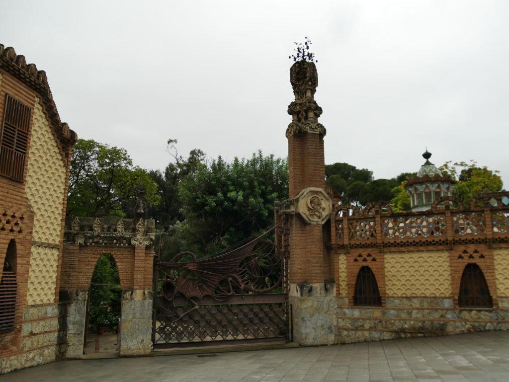 Finca Güell, entrée