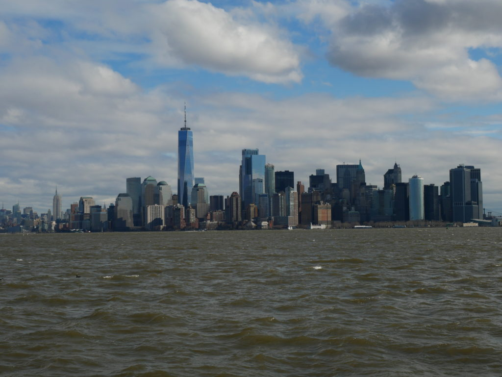 Vue de Manhattan depuis la statue