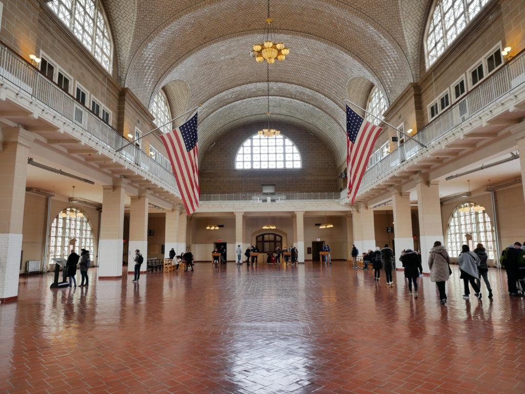 Hall du bâtiment principal, où étaient accueillis les immigrés.