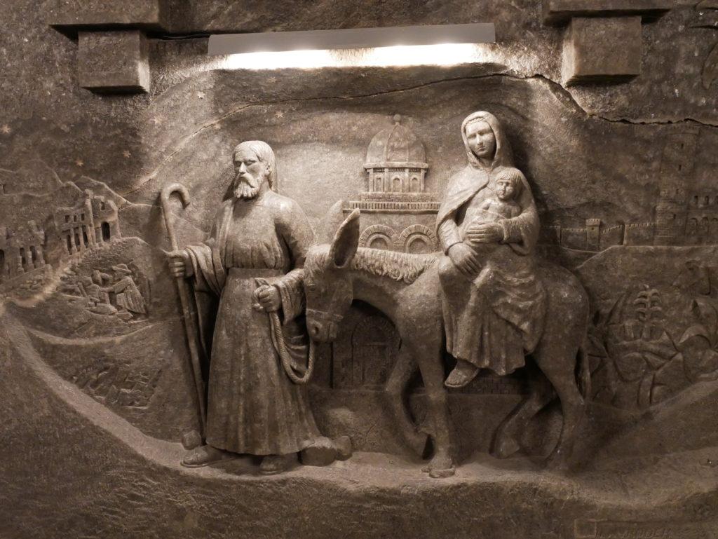 Sculptures dans l'église (en sel bien sur)
