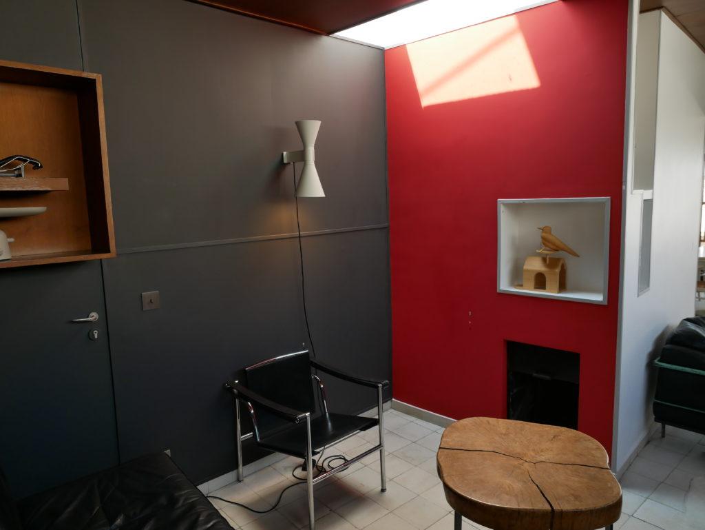 Le salon & la cheminée