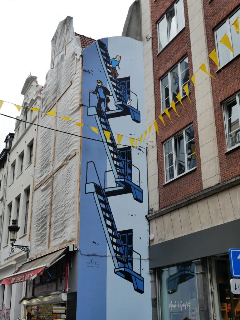Tintin, bien sur... En face du Manneken Pis