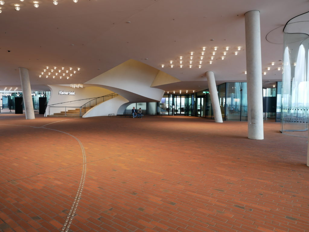 Le hall de la Philharmonie
