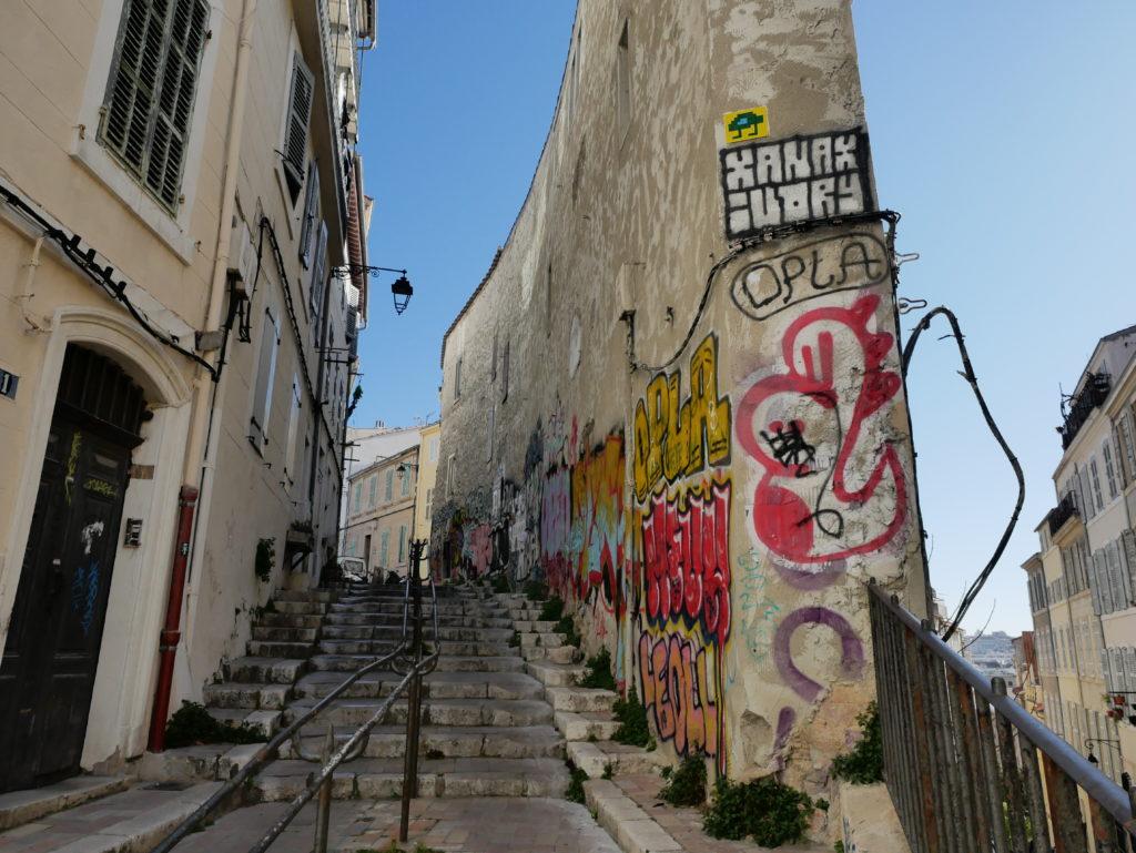 Un invader à Marseille, quartier du Panier